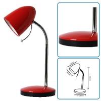 Tischlampe rot mit Fuss, exkl. Birne (E27)