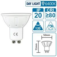 LED-Leuchte mit GU10 Sockel, 4 Watt (entspricht ca. 25 Watt), daylight