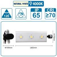 Flutlicht mit Sensor , 150 Watt, silber, mit drei COB-LED