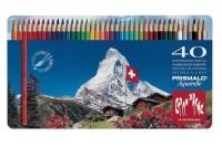 CARAN D'ACHE Farbstifte Prismalo 3mm, 999.34, 40 Farben ass.,Metallschachtel