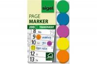 SIGEL Klebepunkte Film, HN301, 5 Farben, 200 BL