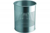 DURABLE Papierkorb rund 15L/P165mm, 331023, silber, Stahl 315x260mm