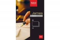 ELCO Schreibblock James Satine A6, 71716.1, weiss,280g 20 Stück