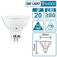 LED-Leuchte mit GU5.3 Sockel, 3 Watt (entspricht ca. 30 Watt), daylight