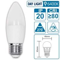 LED-Leuchte mit E27 Sockel, 3 Watt (entspricht ca. 30 Watt), daylight