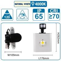Flutlicht mit Sensor , 50 Watt, silber, mit einer COB-LED