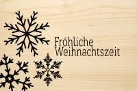 DIE LASEREI SO HOT Holzgrusskarte Weihnachten 04, HGWE0104