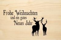DIE LASEREI SO HOT Holzgrusskarte Weihnachten 02, HGWE0102