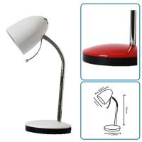 Tischlampe weiss mit Fuss, exkl. Birne (E27)