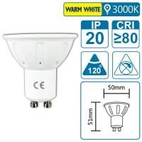 LED-Leuchte mit GU10 Sockel, 3 Watt (entspricht ca. 20 Watt), warmwhite