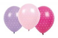 JABADABADO Luftballons Punkten pink/rosa/violett, 6 Stück, B2004