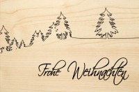 DIE LASEREI SO HOT Holzgrusskarte Weihnachten 09, HGWE0109