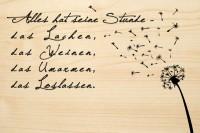DIE LASEREI SO HOT Holzgrusskarte Trauer 03, HGTR0103