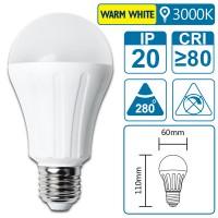 LED-Leuchte mit E27 Sockel, 6 Watt (entspricht ca. 45 Watt), warmwhite, big angle