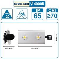 Flutlicht mit Sensor , 100 Watt, silber, mit zwei COB-LED