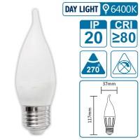 LED-Leuchte mit E27 Sockel, 4 Watt (entspricht ca. 40 Watt), daylight