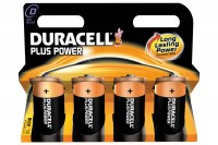 DURACELL Batterien Plus Power D/1,5 V, LR20/MN13, Mono  4 Stück