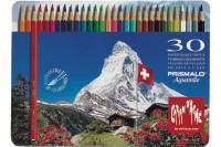 CARAN D'ACHE Farbstifte Prismalo 3mm, 999.33, 30 Farben ass.,Metallschachtel