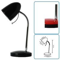 Tischlampe schwarz mit Fuss, exkl. Birne (E27)