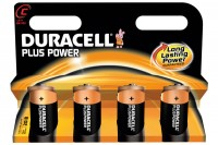 DURACELL Batterien Plus Power C/1,5 V, LR14/MN14, Baby  4 Stück