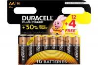 DURACELL Batterien Plus Power AA/1,5 V, LR6/MN150, Mignon 16 Stück