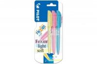 PILOT Frixion Light soft, SWFLSYSPS, gelb, pink, blau Blister