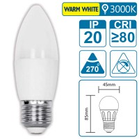 LED-Leuchte mit E27 Sockel, 3 Watt (entspricht ca. 20 Watt), warmwhite