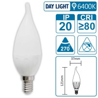 LED-Leuchte mit E14 Sockel, 3 Watt (entspricht ca. 30 Watt), daylight