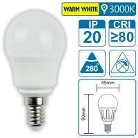 LED-Leuchte mit E14 Sockel, 3 Watt (entspricht ca. 30 Watt), warmwhite