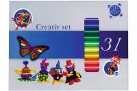 CREA-POINT Knete Creativ-Set 12 Farben Set