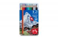 CARAN D'ACHE Farbstifte Prismalo 3mm, 999.312, 12 Farben ass.,Metallschachtel