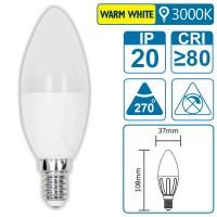 LED-Leuchte mit E14 Sockel, 7 Watt (entspricht ca. 50 Watt), warmwhite