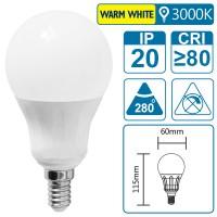LED-Leuchte mit E14 Sockel, 8 Watt (entspricht ca. 80 Watt), warmwhite