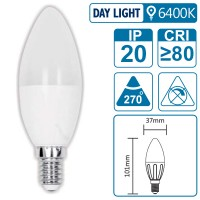 LED-Leuchte mit E14 Sockel, 4 Watt (entspricht ca. 30 Watt), daylight