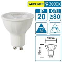 LED-Leuchte mit GU10 Sockel, 7 Watt (entspricht ca. 65 Watt), warmwhite, dimmbar
