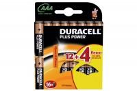 DURACELL Batterien Plus Power AAA/1,5 V, LR03/MN24, Micro  16 Stück