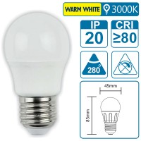 LED-Leuchte mit E27 Sockel, 5 Watt (entspricht ca. 35 Watt), warmwhite, big angle