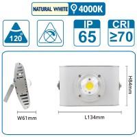 Flutlicht mit einer COB-LED, 10 Watt, silber