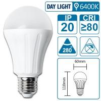 LED-Leuchte mit E27 Sockel, 6 Watt (entspricht ca. 60 Watt), daylight, big angle