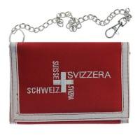 Klettportemonnaie Schweiz mit Metallkette