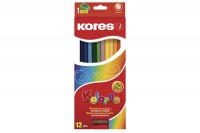 KORES KOLORES Buntstifte, BB93312, 12 Farben ass. 3-eckig