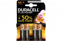 DURACELL Batterien Plus Power 1,5 V, 17641, Mignon/LR6/AA 4 Stück