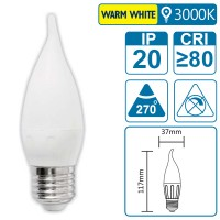 LED-Leuchte mit E27 Sockel, 4 Watt (entspricht ca. 40 Watt), warmwhite