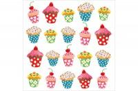 PPD Servietten Sweet Cupcakes, 1331526, 20 Stück 330x330mm